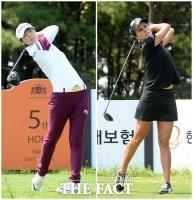 [TF포토] 박성현-렉시 톰슨 '시원시원한 장타 대결'
