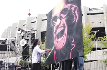 [TF영상] '아카디아' 그래피티 작가 닌볼트, '퍼포먼스의 끝을 보이다'