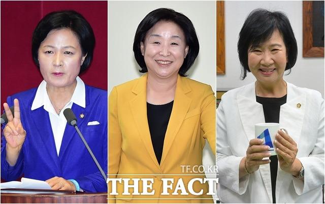 20대 국회에서 추미애 더불어민주당 대표와 정의당 심상정 대표, 손혜원 더민주 의원은 전투력과 패션 센스로 주목을 받고 있다(왼쪽부터)./더팩트DB