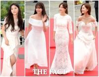 [TF사진관] 유행인가? '화이트 드레스로 레드카펫 수놓은 여배우들'