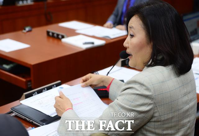 진상규명을 촉구하는 더불어민주당 박영선 의원