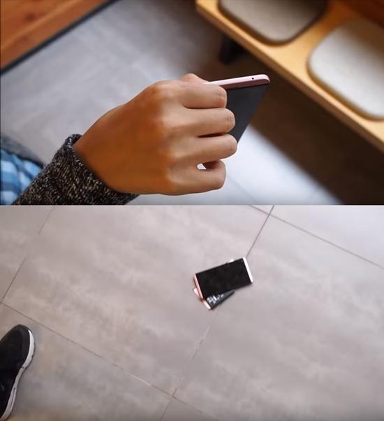 최근 유튜브에 LG전자의 스마트폰 V20의 내구성을 테스트하는 영상이 올라와 관심을 끌고 있다. /유튜브 영상 캡처