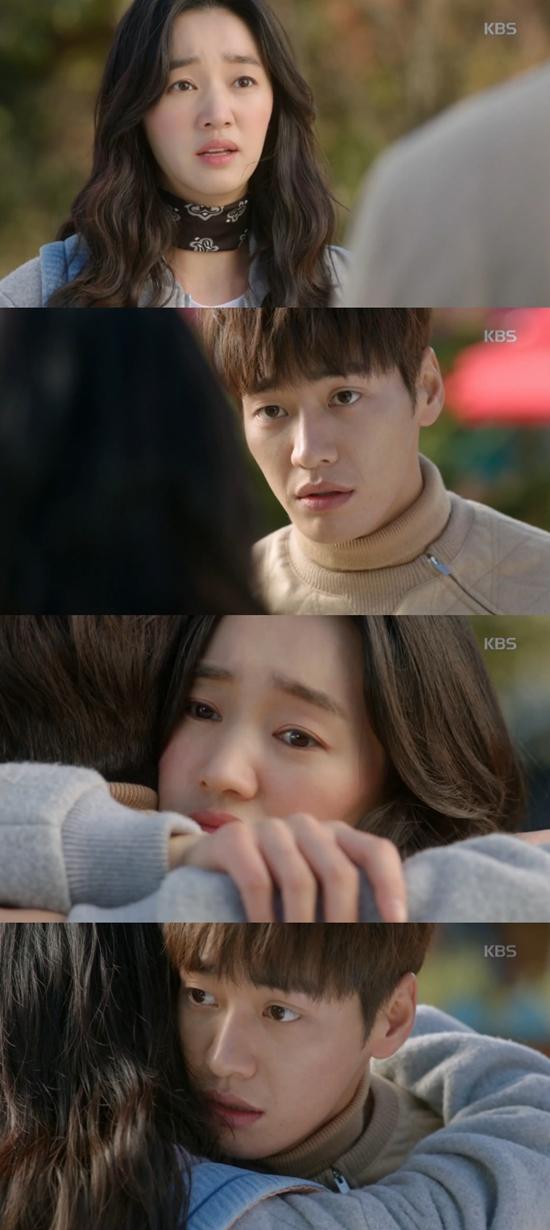 우리집에 사는 남자 수애, 김영광에 포옹. 우리집에 사는 남자 수애는 김영광의 정체를 알았다. /KBS2 우리집에 사는 남자 방송 화면 캡처