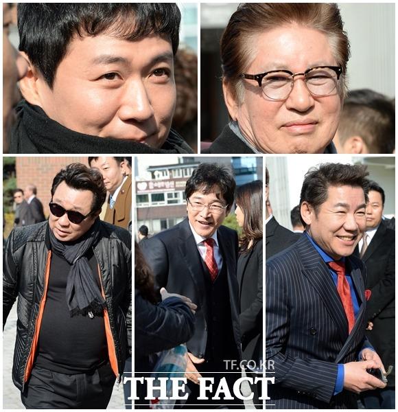 많은 연기자 선후배들이 배우 길용우의 아들 성진 씨의 결혼식에 참석했다. /남용희 인턴기자