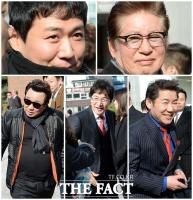[TF포토] 연정훈-김용건-박상원-정보석, '현대家 결혼식 찾은 스타들'