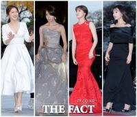 [TF포토] 시상식의 또 다른 볼거리 '★들의 화려한 드레스 패션'
