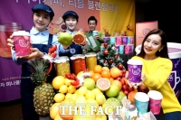 [TF포토] '신선한 과일을 티로 만나보세요~'…이디야 블렌딩티 출시