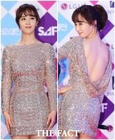 [TF포토] 소녀시대 유리, '파격적인 뒤태 노출 드레스'