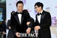 [TF사진관] 대상 후보오른 유재석-정준하, '조금 어색해진 두사람'