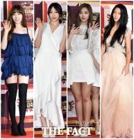 [TF포토] 태연-하니-쯔위-설현, '걸그룹 대표미녀들의 시상식 패션'