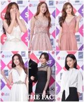 [TF포토] 역대급 미모 경쟁 펼친 '2016 SAF 연기대상'