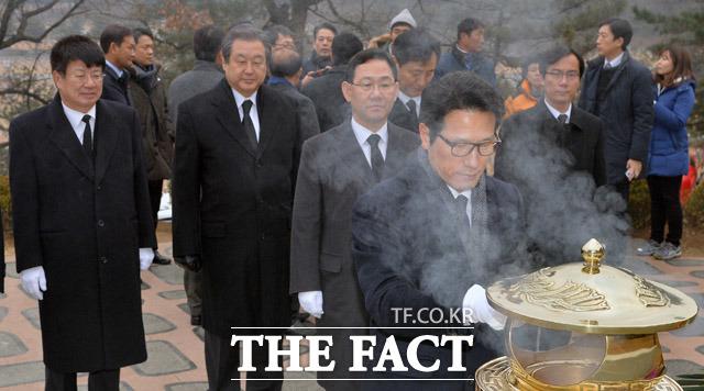 김대중 전 대통령 묘역 참배하는 개혁보수신당