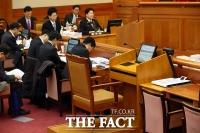 [TF포토] 3차 변론기일, 최순실-정호성 불출석으로 '빈 증인석'