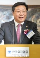 [TF포토] '철강업계 신년인사회' 소감 밝히는 주형환 장관