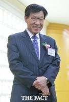 [TF포토] '철강업계 신년인사회' 미소 띤 권오준 회장