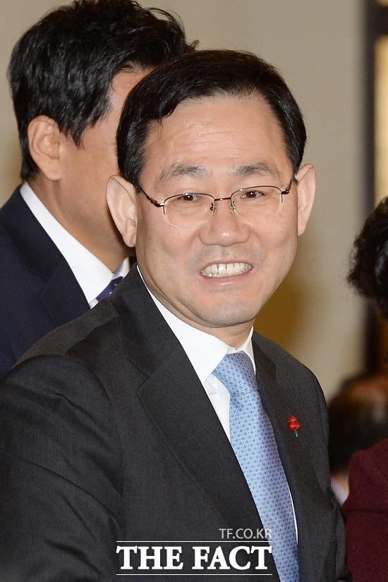 주호영 바른정당 원내대표는 김무성 재등판론에 대해 그럴 일 없다고 선을 그었다. /남용희 기자