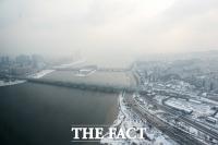[TF포토] 서울 첫 대설주의보, '회색빛 겨울왕국'