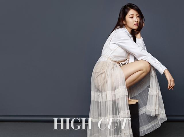 남지현 화보. 최근 배우로 전향한 남지현은 색다른 분위기를 발산해 눈길을 끌었다. /하이컷 제공