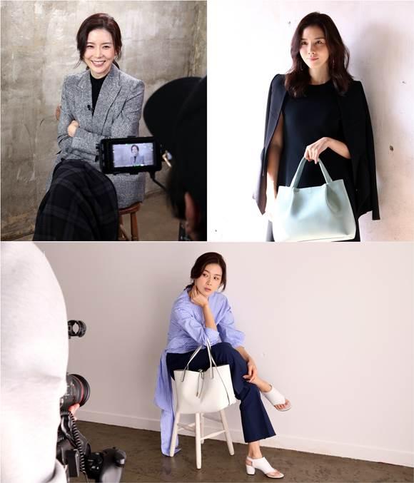 배우 이보영이 화사한 봄 여신으로 변신했다. 이보영은 최근 J사 국내 가방브랜드와 광고 촬영을 진행했다. /J사 제공