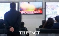 [TF포토] 김정은, 트럼프에 강경대응?...동해상에 미상의 발사체 발사