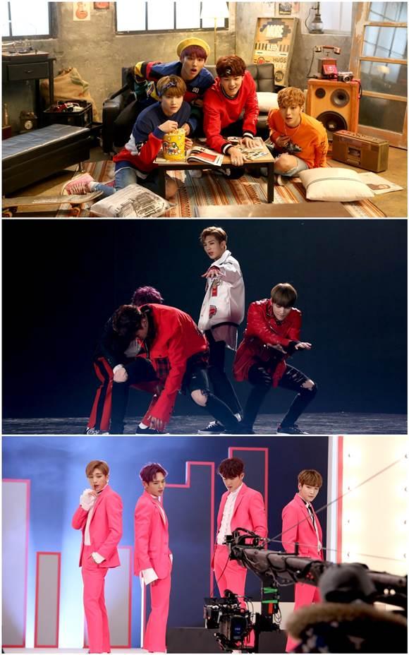 비아이지의 비글미를 느낄 수 있는 신곡 '1,2,3'의 뮤직비디오 메이킹 영상이 공개됐다. /GH엔터테인먼트