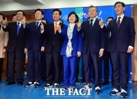 [TF포토] 더불어민주당 대선 경선후보들, '공명선거를 위해!'