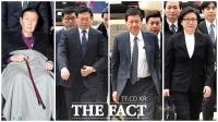 [TF사진관] 한자리에 모인 롯데家…'경영비리 재판 시작'