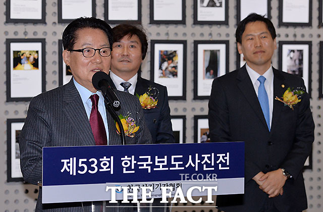 축사하는 국민의당 박지원 대표