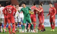 [TF화보] '기사회생' 한국, 시리아에 졸전 끝에 1-0 승리