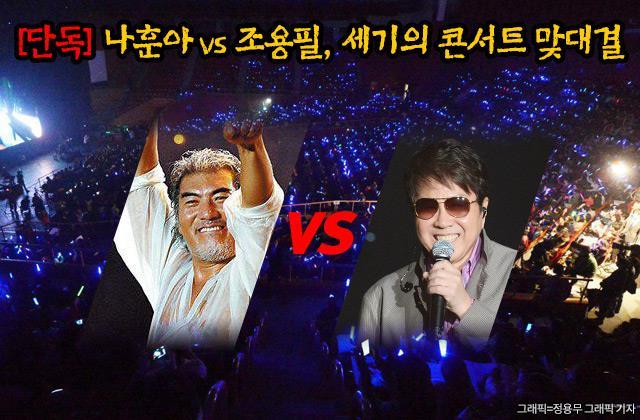한국 가요계의 살아있는 전설 나훈아와 조용필이 올 하반기 같은 장소에 공연 일정을 잡아 가요팬들의 관심을 집중시킬 것으로 보인다. /그래픽=정용무 기자