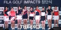 [TF사진관] 베일 벗은 미녀 골프팀 '임팩트9'