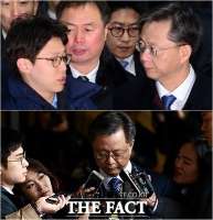 [TF사진관] 고개숙인 우병우, '레이저 눈빛은 어디로?'