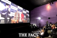 [TF포토] '배우들과 대화도 실시간으로!'…가디언즈 오브 갤럭시 콘퍼런스