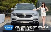 [TF포토] 쌍용차 G4 렉스턴 출시, '모하비에 뺏긴 대형 SUV 명성 되찾는다!'