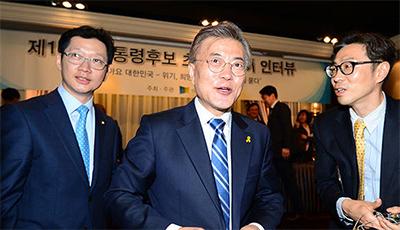 [TF영상] '인신협 주최' 릴레이 인터뷰 첫 주자는 '문재인 대선후보'