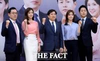 [TF포토] '힘찬 파이팅'…'SBS 2017 국민의선택' 대선 개표방송 간담회