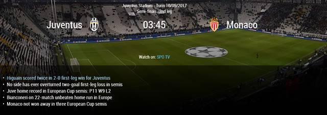 유벤투스-모나코, 챔피언스리그 준결승 2차전. 10일 유벤투스-모나코의 UEFA 챔피언스리그 4강 2차전이 펼쳐진다. /UFFA 홈페이지 캡처