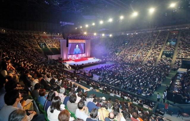 가정연합은 지난 14일 일본 도쿄에서 2017 효정문화페스티벌을 열었다. 행사에는 1만2000여 명의 회원이 참석해 성황을 이뤘다./사진제공=가정연합