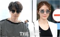 [TF포토] 이동욱-유인나, '우연의 일치?'…같은 날 출국하는 두 남녀