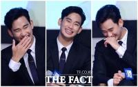 [TF사진관] '웃음 부자' 김수현, '자꾸 터져 나오는 웃음'