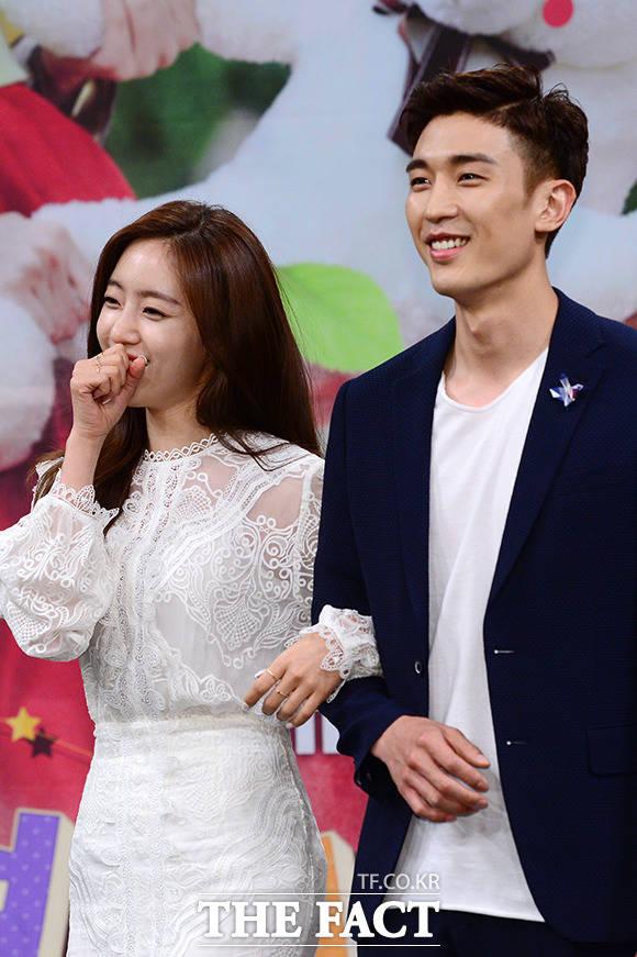 함은정(왼쪽)과 강경준 커플