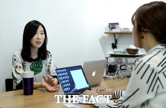 곽 대표는 여자가 성에 대해 자기 기분을 이야기 한다고 손가락질 받는 게 싫어서 사명감을 더 가진다고 말했다./임세준 기자