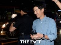 [TF포토] 송중기, 결혼발표 후 첫 인터뷰