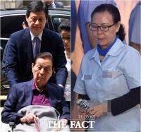 [TF포토] 신격호-신영자-신동주, '법원에서 재판 받는 롯데'