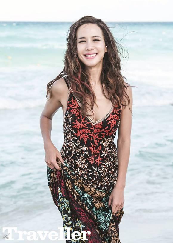 배우 조여정이 멕시코 칸쿤을 방문, 카리브해 여신에 등극했다. /더 트래블러 제공