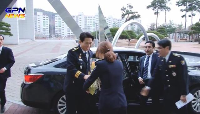 지난해 1월 광주경찰청에 부임했을 당시 강 학교장의 모습./광주청 홈페이지
