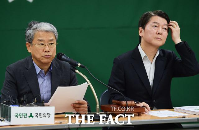 모두발언 하는 김동철 원내대표(왼쪽)