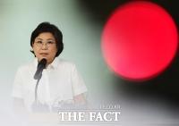 [TF포토] '저는 결백합니다!'…금품수수 의혹 받는 이혜훈 대표