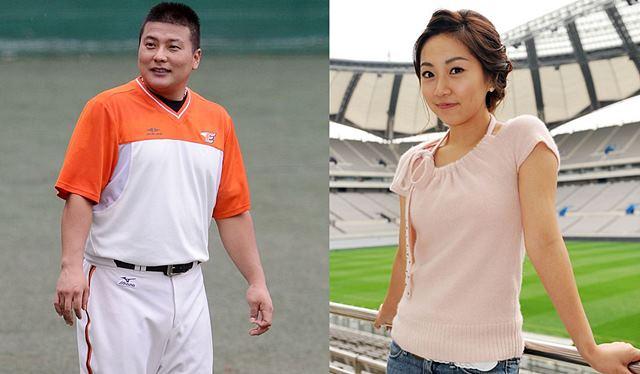 야구선수와 아나운서 커플 1호, 김태균 선수와 김석류 아나운서는 슬하의 딸 한명을 두고 있다. /더팩트 DB