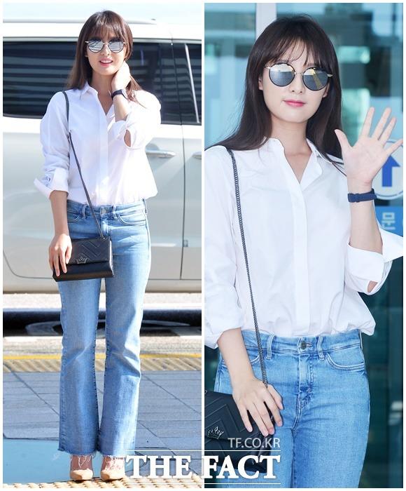 7월 18일 오후 화보 촬영을 위해 인천국제공항을 통해 출국하는 배우 김지원